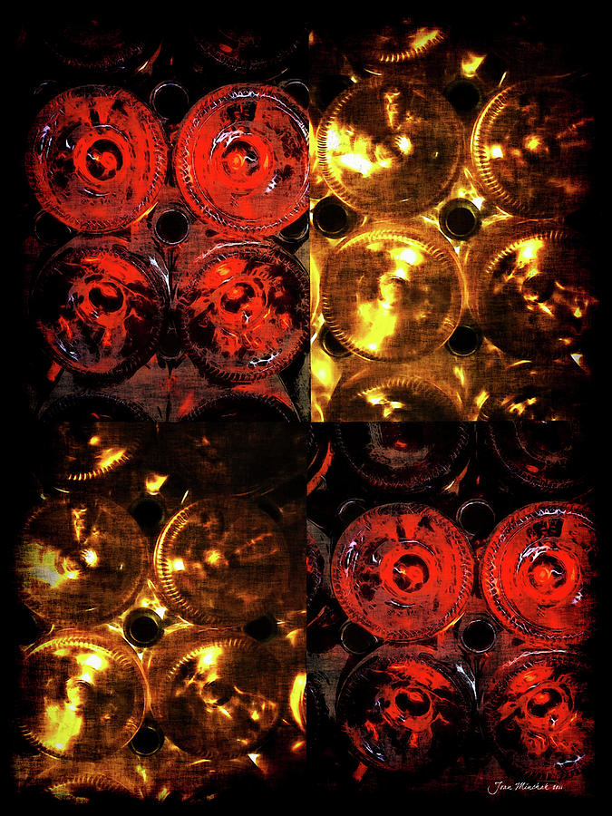 Bordeaux Photograph - Red And White Wine Collage by Joan  Minchak