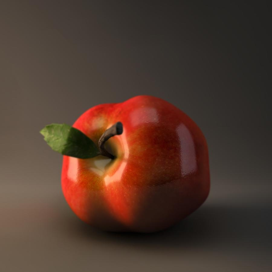 Digital Art - Red Apple by BaloOm Animation Studios
