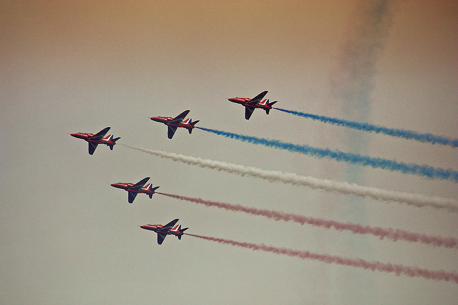 Aircraft Photograph - Red Arrows by Graham Parry