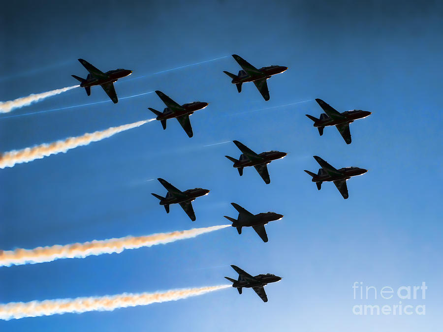 Red Arrows Photograph - Red Arrows by Graham Taylor