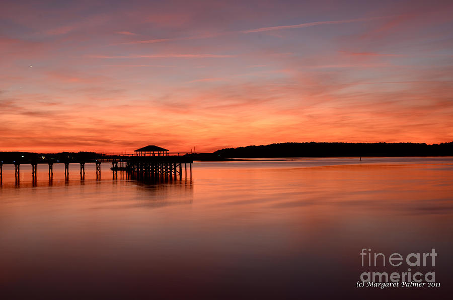 Sunset Photograph - Red Autumn Sky by Margaret Palmer