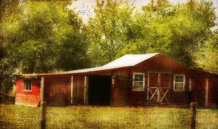 Barn Photograph - Red Barn by Joan Bertucci