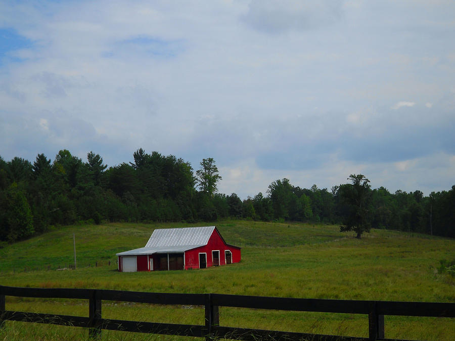 Barns Photograph - Red Barn by Victoria Ashley