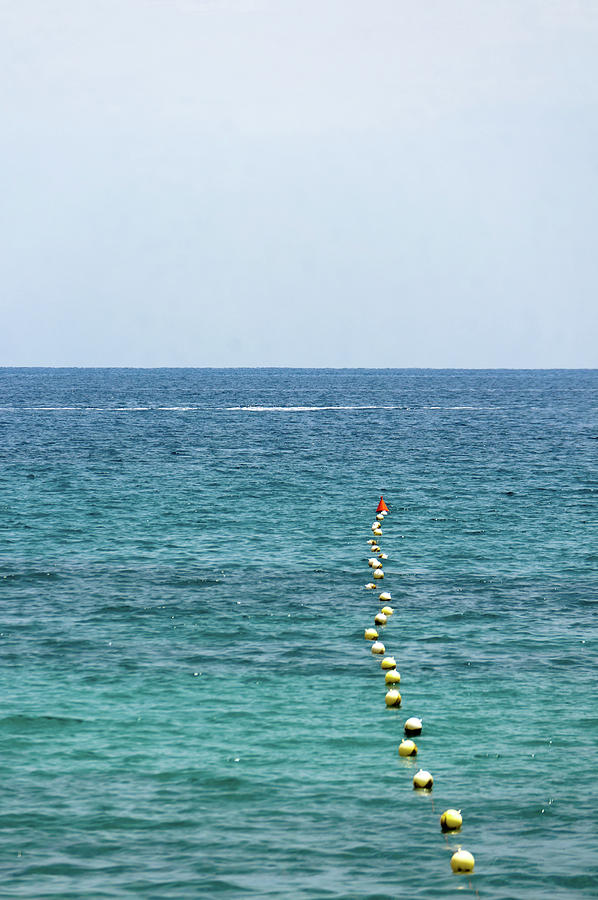 Vertical Photograph - Red Buoy by Daniel Kulinski