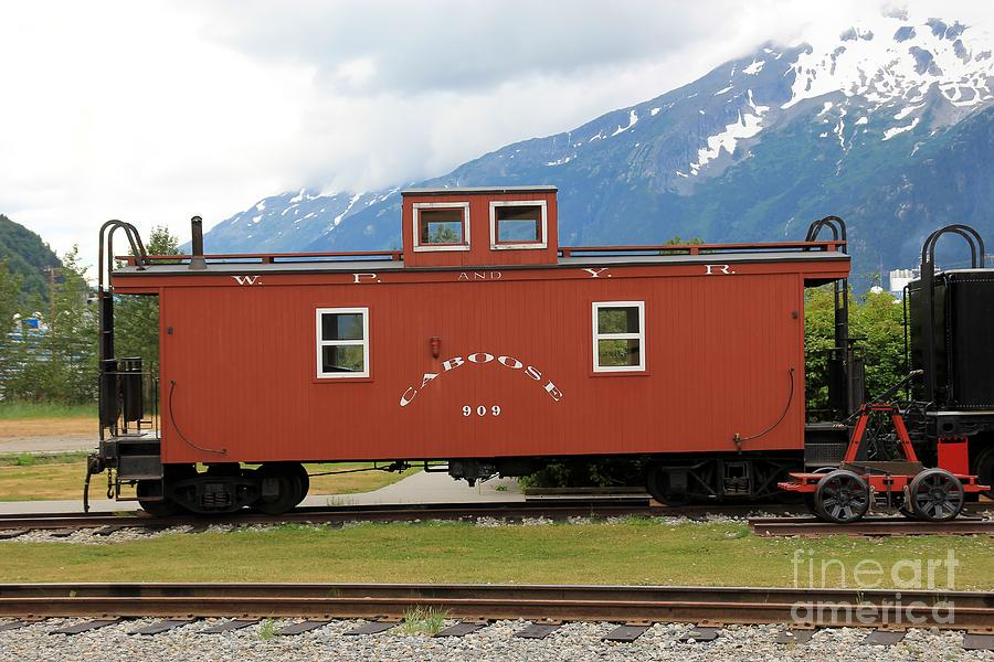 Caboose Photograph - Red Caboose by Sophie Vigneault