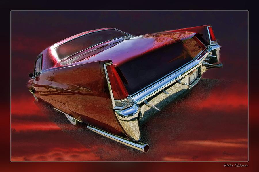 Cadillac Photograph - Red Cadillac by Blake Richards
