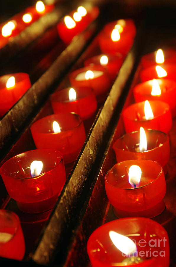 Background Photograph - Red Candles by Carlos Caetano