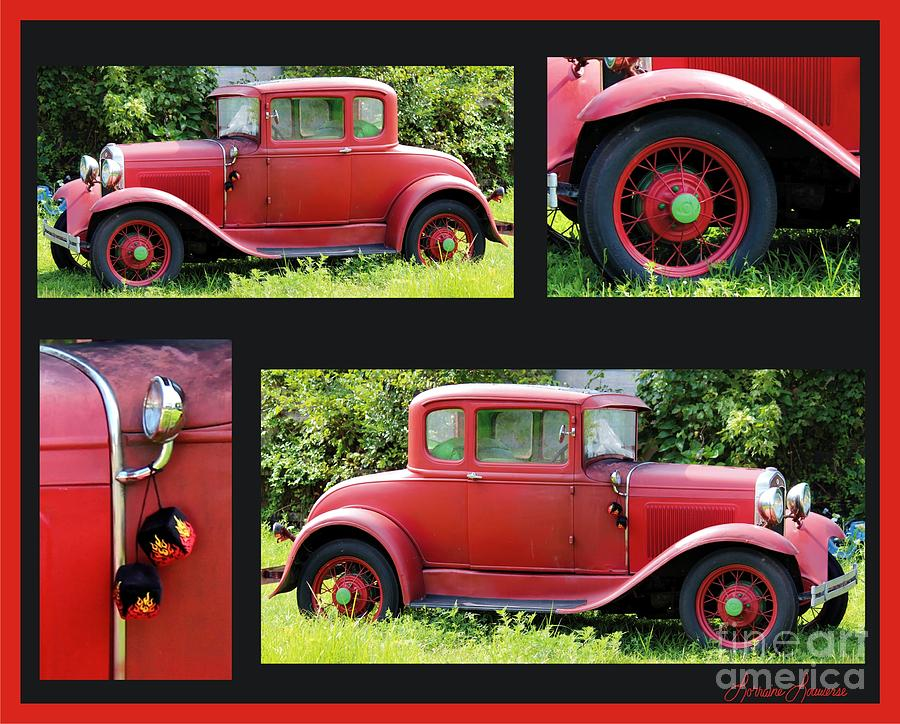 Cars Photograph - Red Car by Lorraine Louwerse