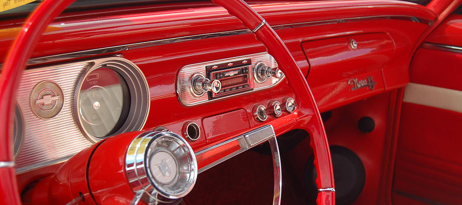 Nova Photograph - Red Chevy II by Gabe Arroyo