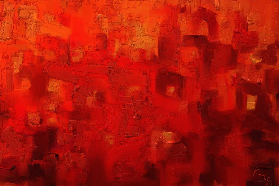 Red City 2 Painting By Rabi Khan