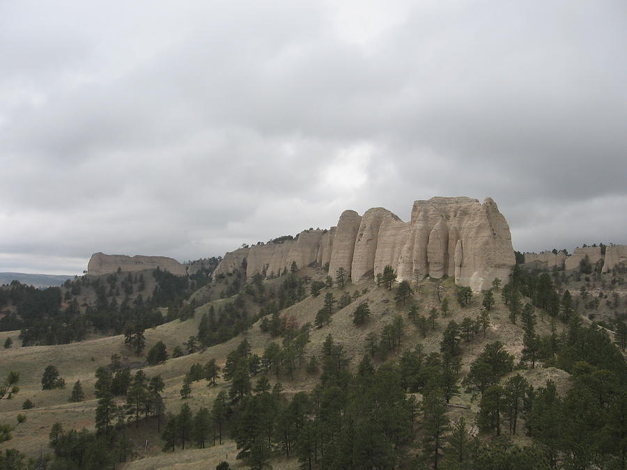 Rock Formation Photograph - Red Cloud Buttes by J W Kelly