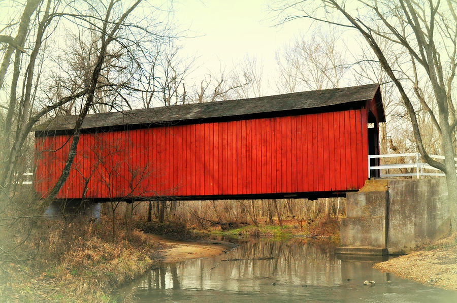 Bridge Photograph - Red Covered Bridge by Marty Koch