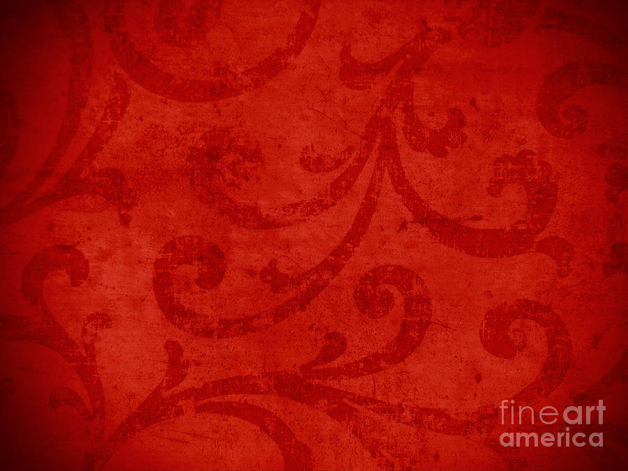 Backdrop Tapestry - Textile - Red Crispy Oriental Style Decor For Fine Design. by Marta Mirecka