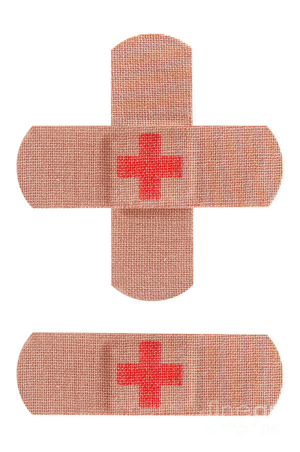 Adhesive Photograph - Red Cross Bandages by Blink Images