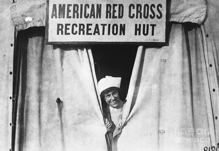 Historic Photograph - Red Cross Nurse, 1918 by Photo Researchers