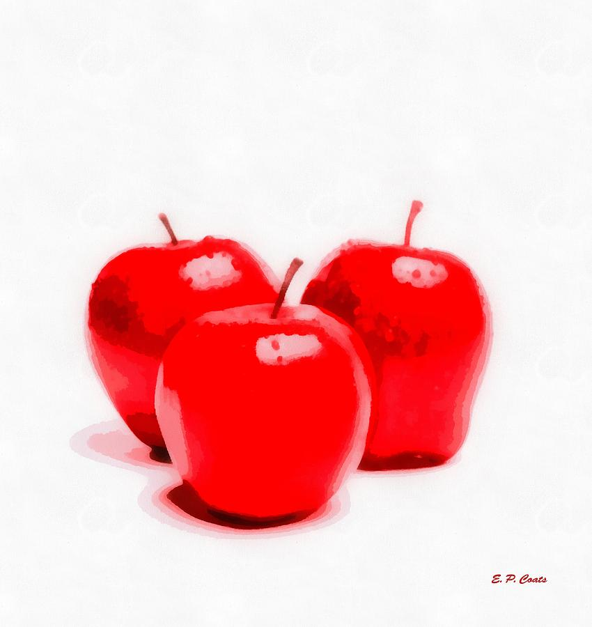 Apples Painting - Red Delicious Apples by Elizabeth Coats