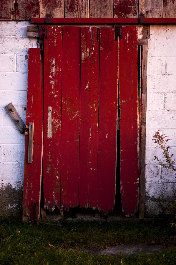 Farm Photograph - Red Door by Cale Best