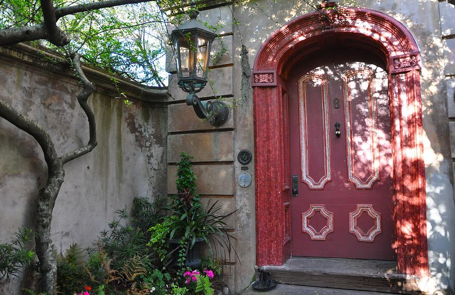 Red Door Charleston Photograph by Lori Kesten
