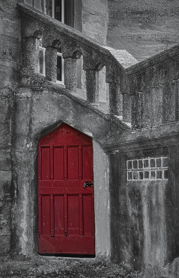 Red Door Photograph - Red Door by Susan Candelario