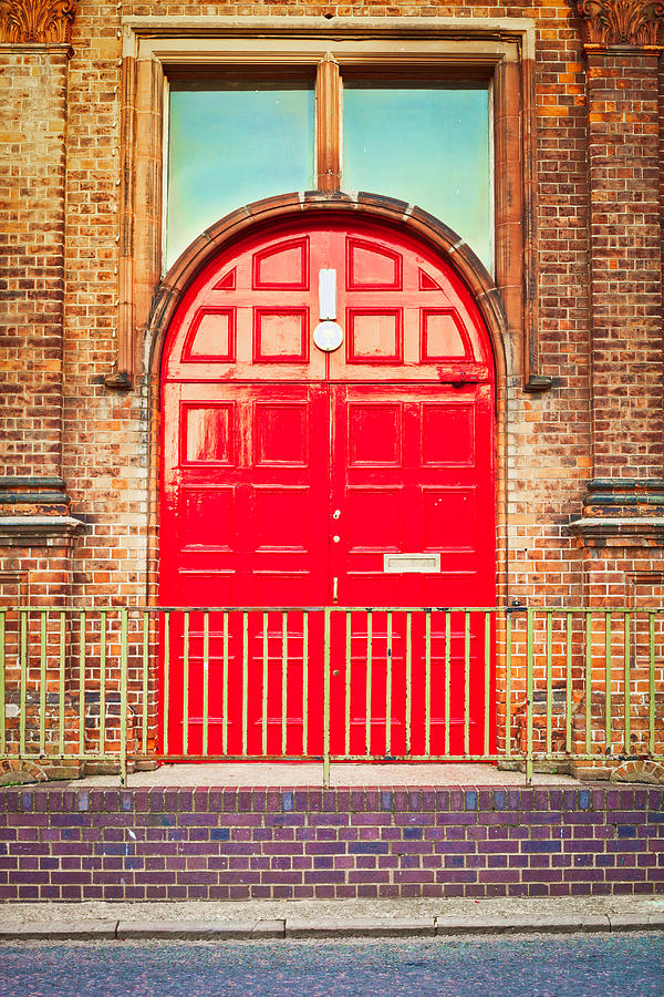Arch Photograph - Red Door by Tom Gowanlock