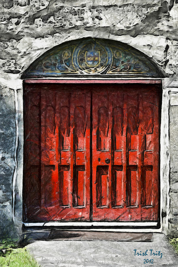 Red Photograph - Red Door by Trish Tritz