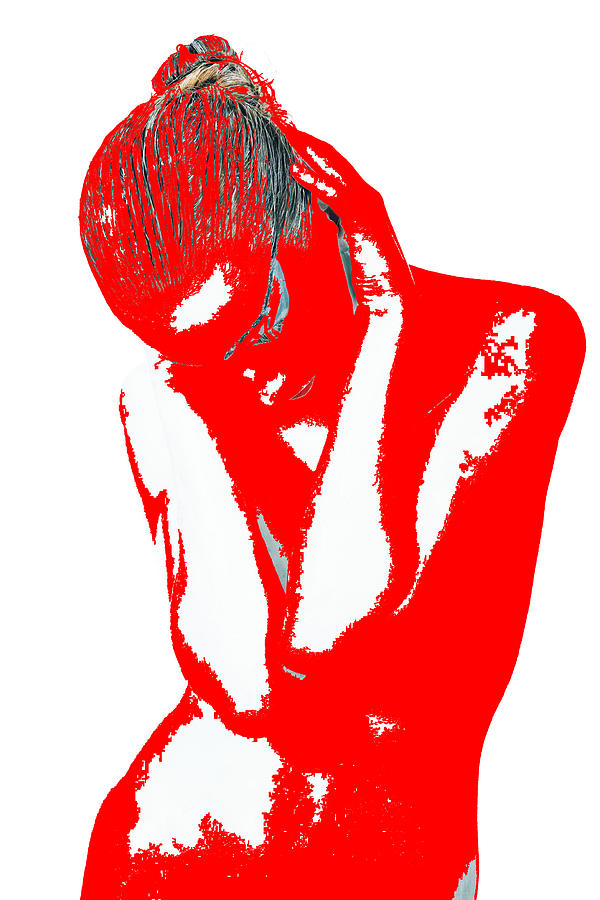 American Photograph - Red Drama by Naxart Studio