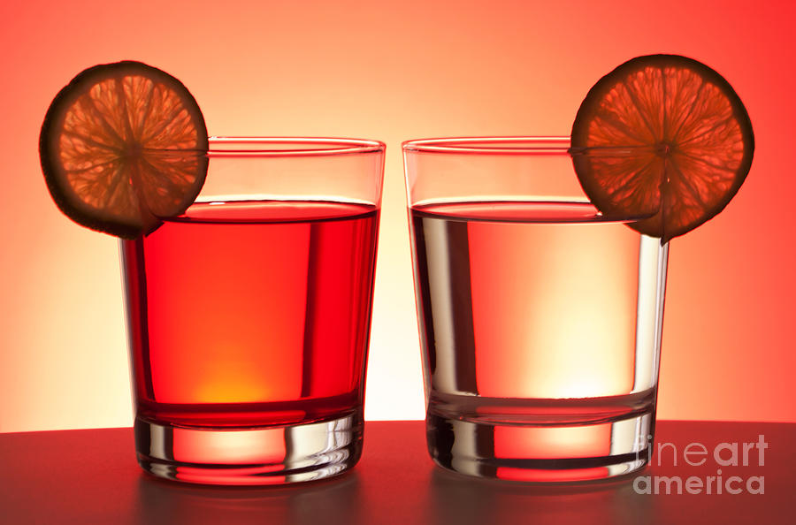 Drink Photograph - Red Drinks by Blink Images