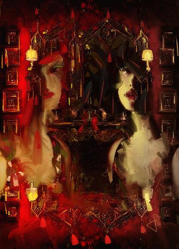 Red Digital Art - Red Dust by Velitchka Sander