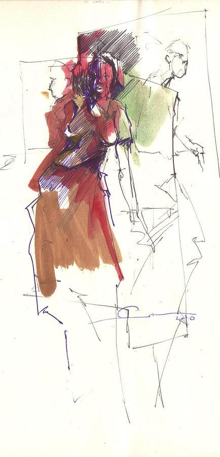 Red Drawing - RED by Ertan Aktas