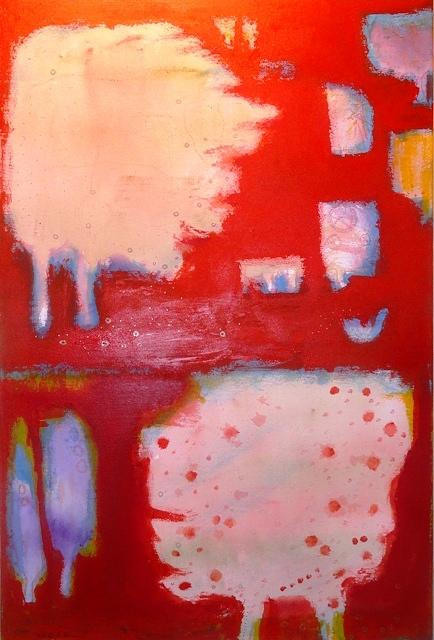 Landscape Painting - Red Fall by Khalid Alaani