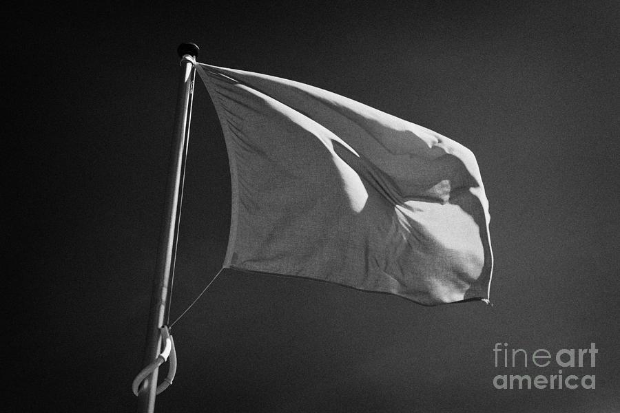 Culloden Photograph - red flag flying marking the hanoverian english line Culloden moor battlefield site highlands scotl by Joe Fox
