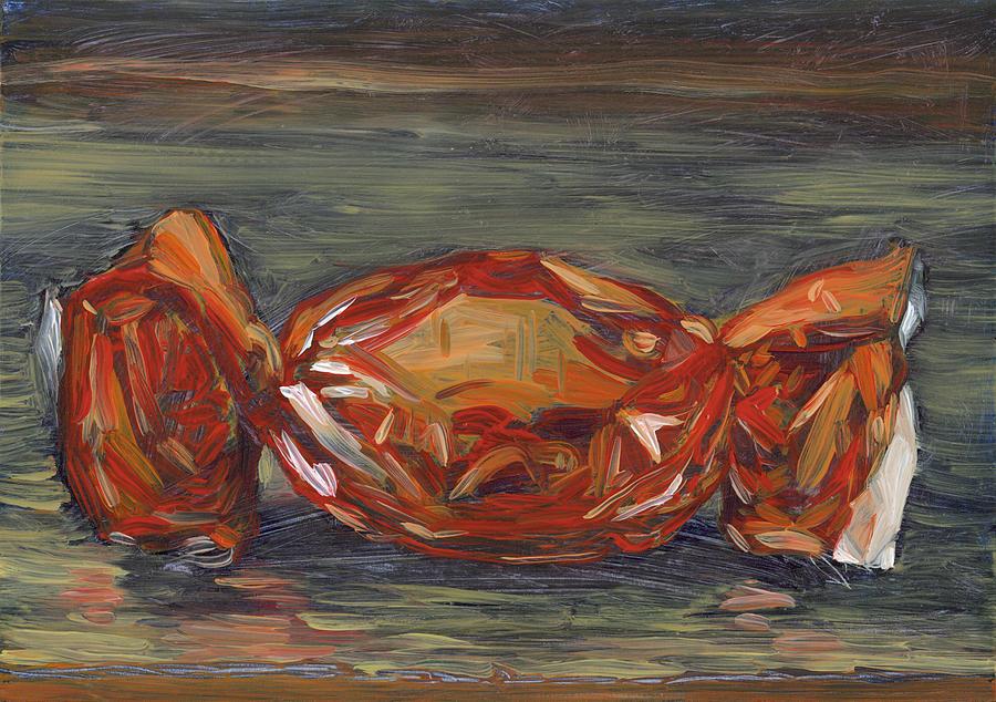 Still Life Painting - Red Foil by Scott Bennett