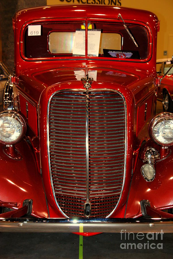 Truck Photograph - Red Ford by Susanne Van Hulst