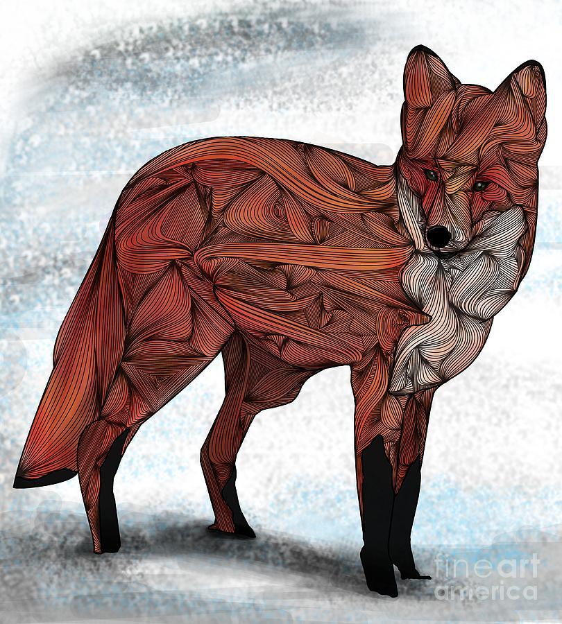 Red Digital Art - Red Fox by Ben Geiger