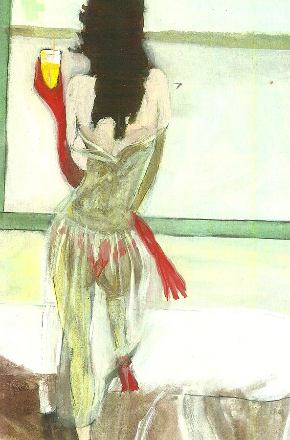 Lingerie Painting - Red Gloves Red Shoes Red Throng 3d by Harry WEISBURD