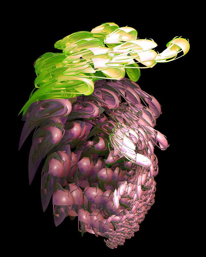 Creative Digital Art - Red Grapes by Linda Phelps