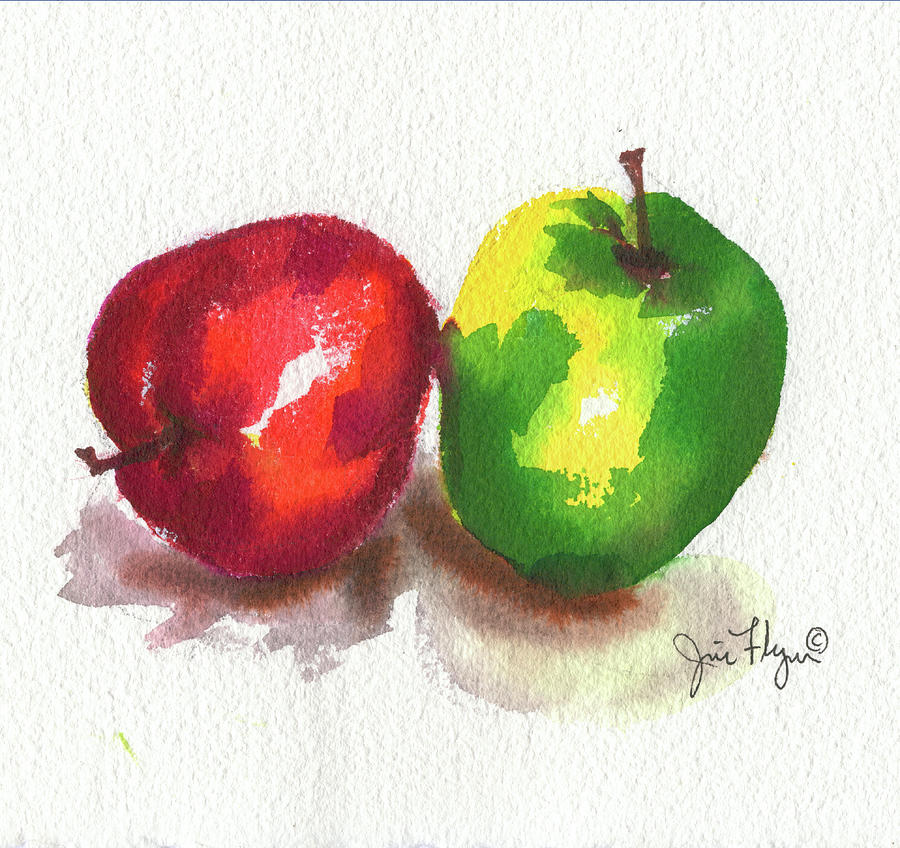 Red Green Apples by James Flynn