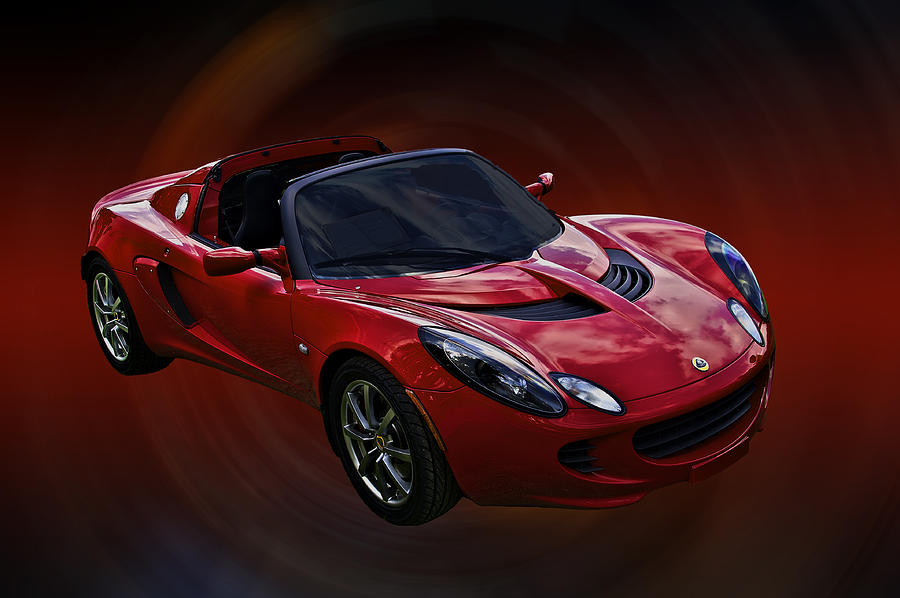 Lotus Photograph - Red Hot Elise by Mike  Capone