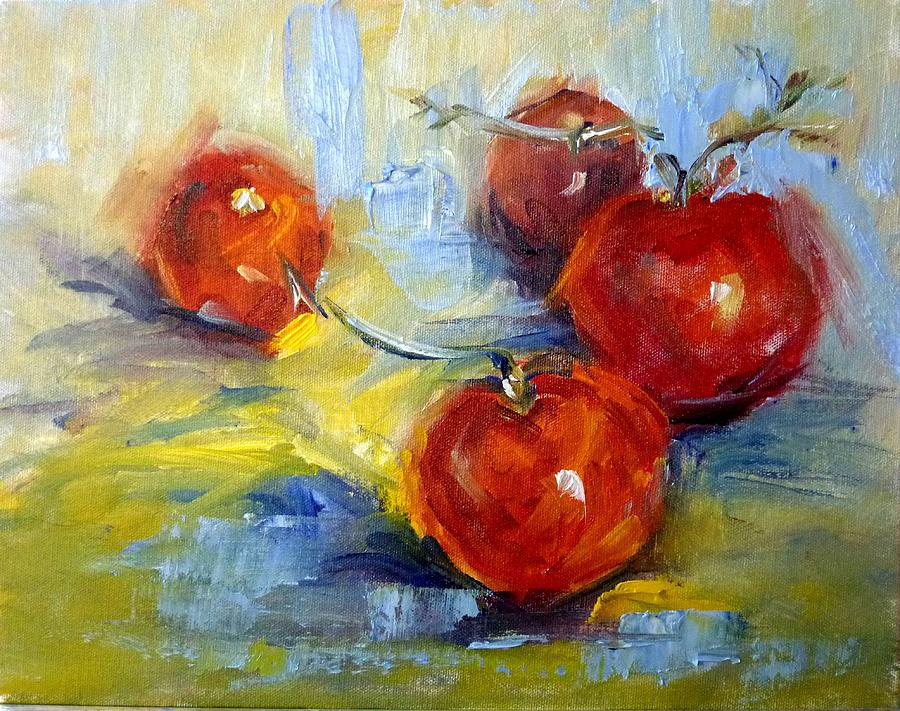 Original Painting - Red Hot Tomato Study by Geri Acosta