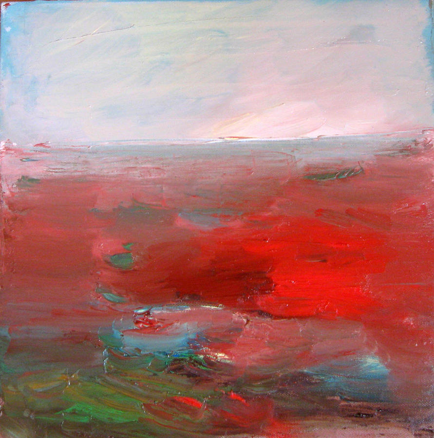 Red Landscape Painting - Red Landscape by Brooke Wandall