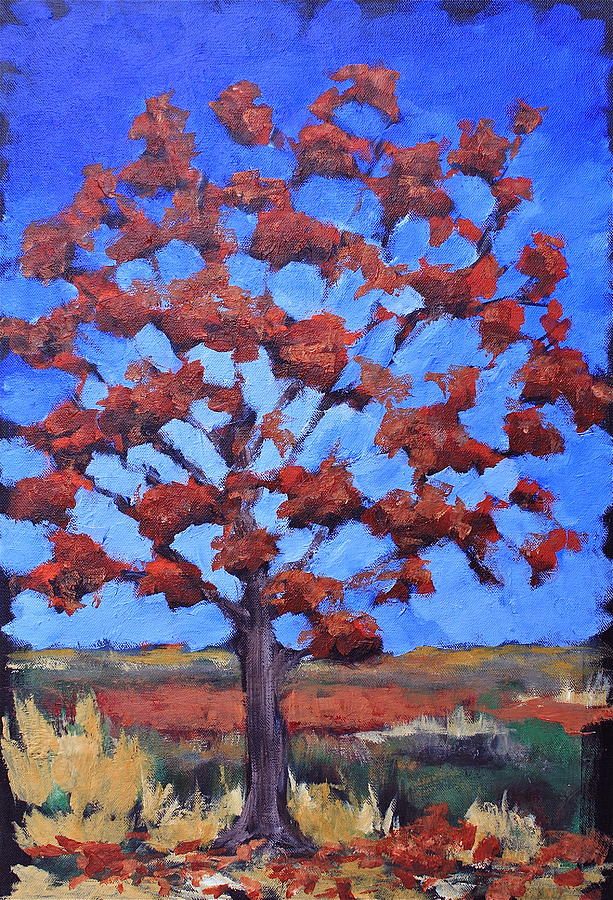 Tree Painting - Red Maple by Lisa Masters