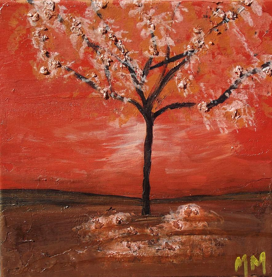 Tree Painting - Red by Megan Miller