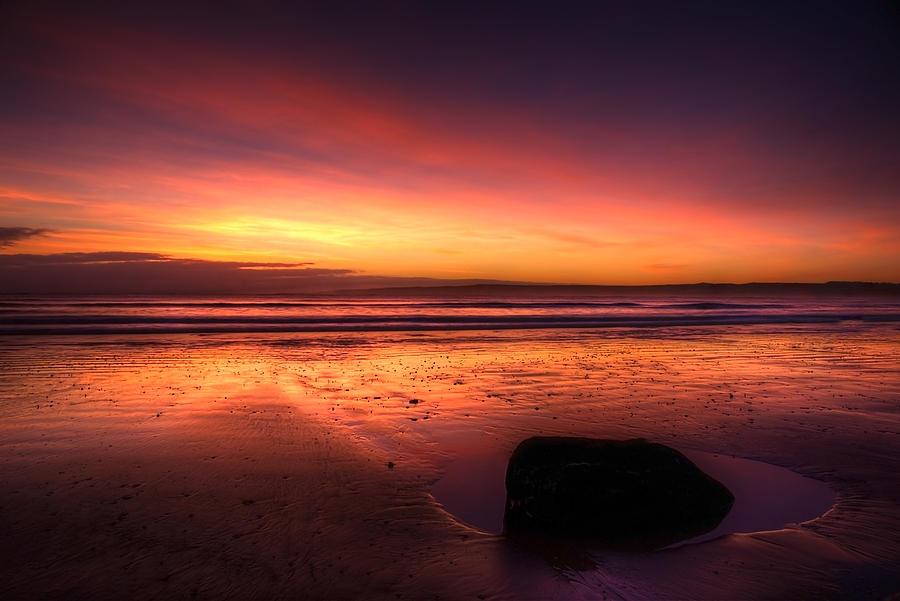 Bay Photograph - Red Morning by Svetlana Sewell