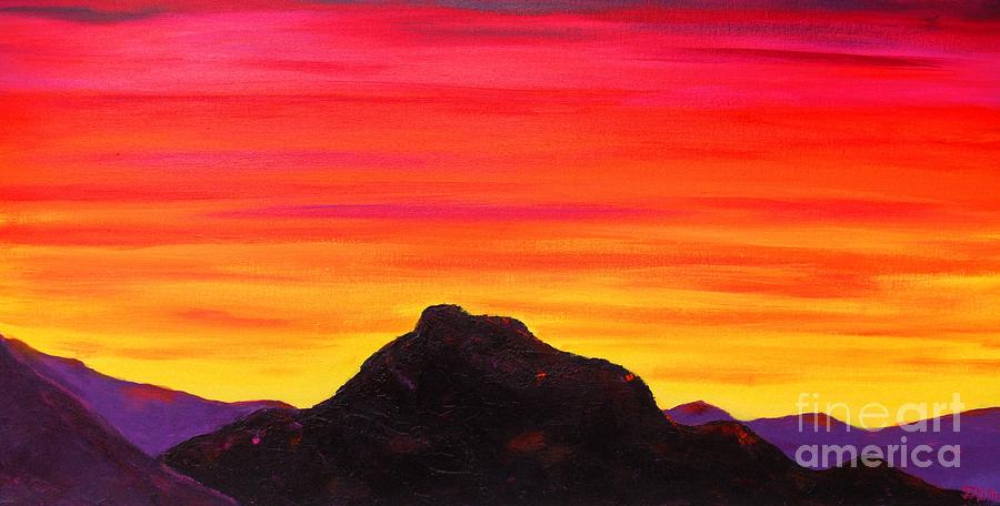 Arizona Red Mountain Sunset Painting