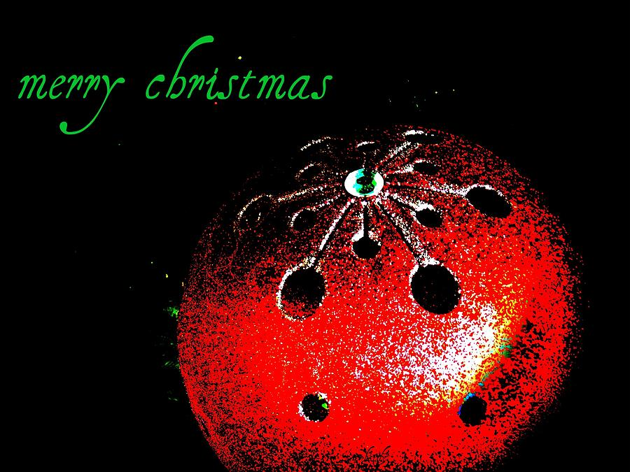 Cards Photograph - Red Ornament by Chris Berry