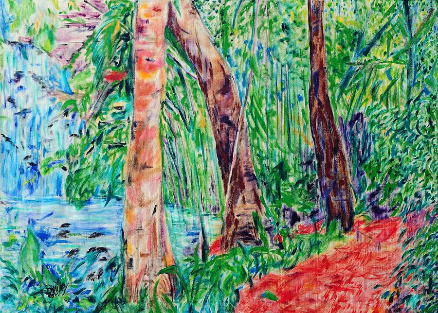 Costa Rica Painting - Red Path 03 by Bradley Bishko