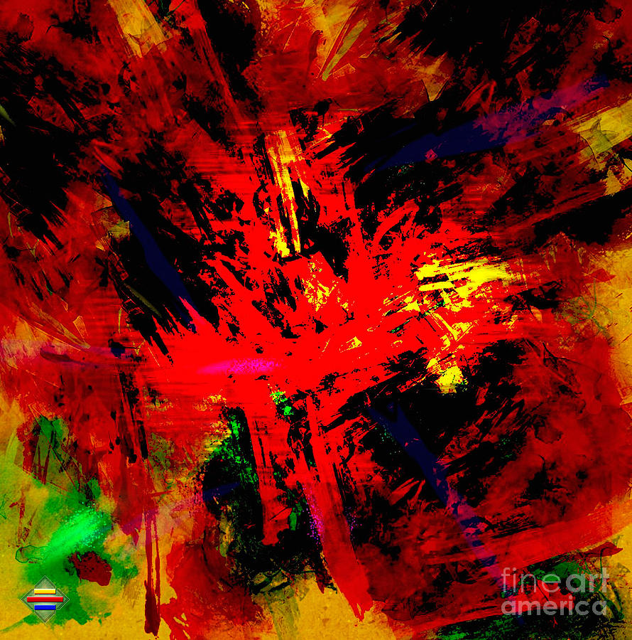 Digital Painting Digital Art - Red Planet by Vidka Art