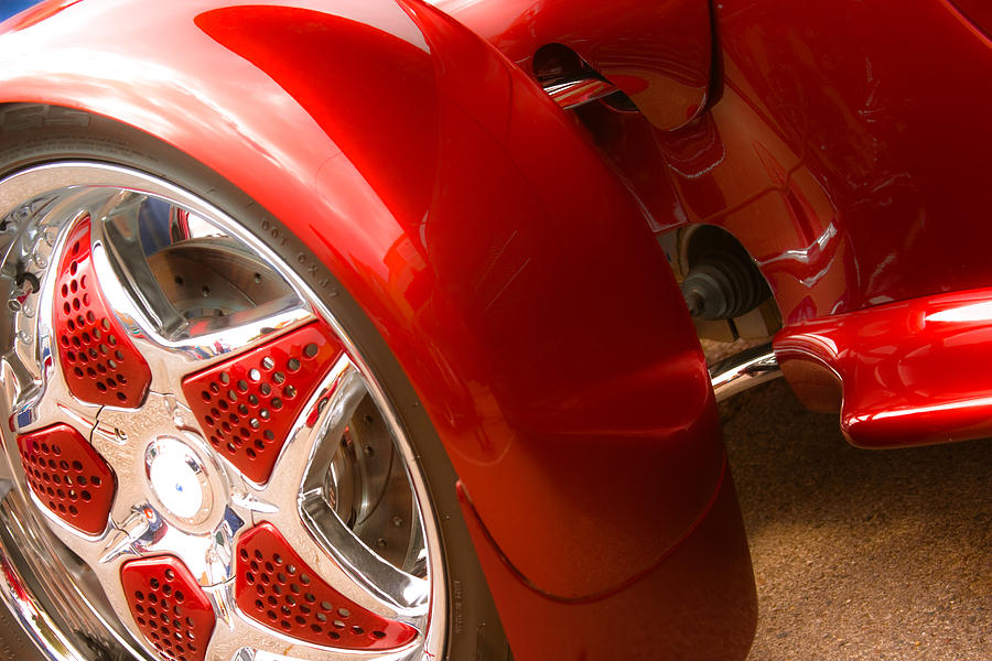 Car Photograph - Red Prowler  by Toni Hopper