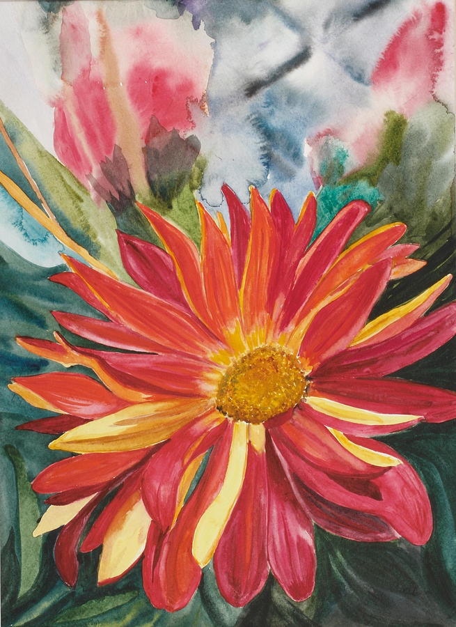Flower Painting - Red Red Red by Judy Loper