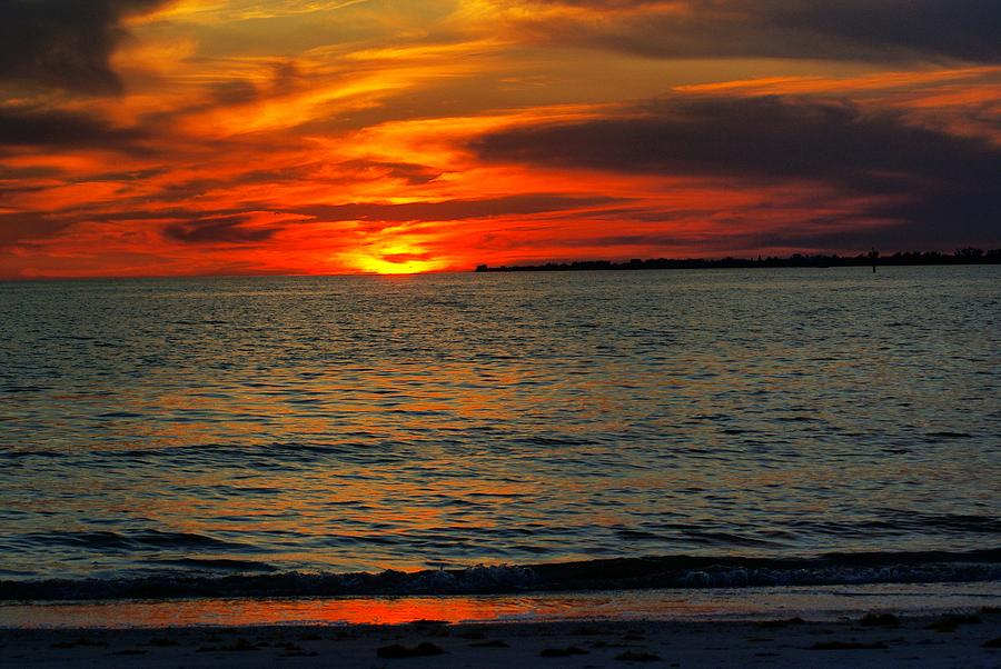 Sunset Photograph - Red Reflections by Florene Welebny